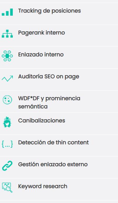funcionalidades y modulos de DinoRank