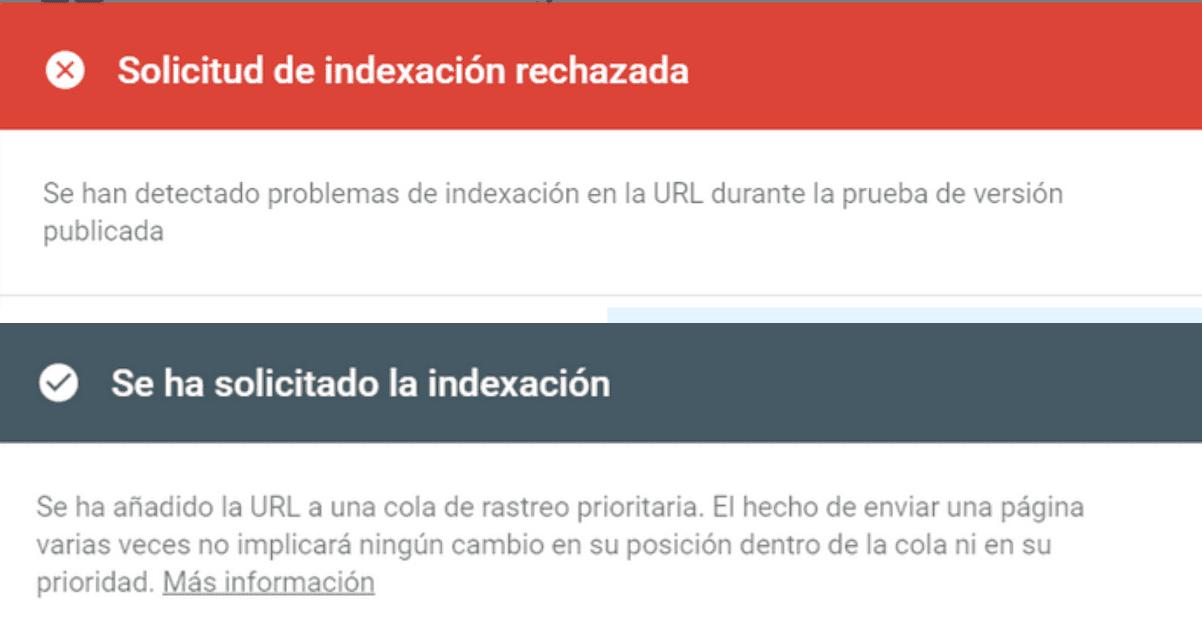 solicitar indexacion en search console