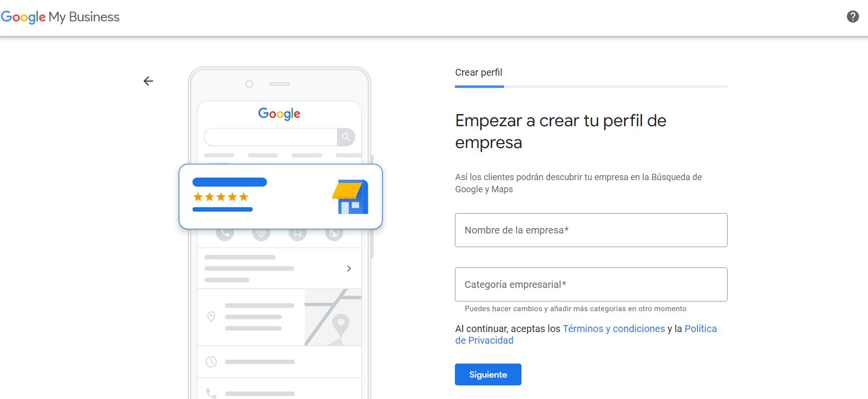 perfil google my business