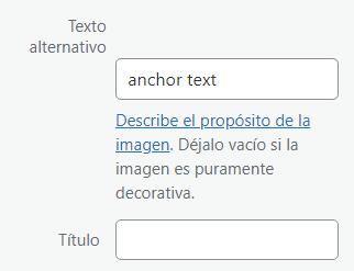 texto alt anchor text