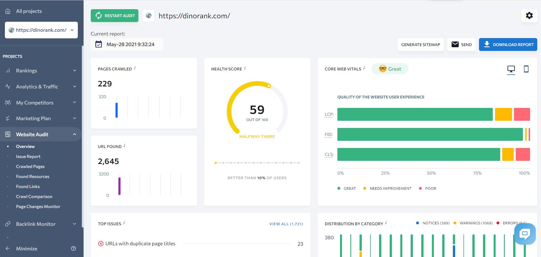 website audit se ranking