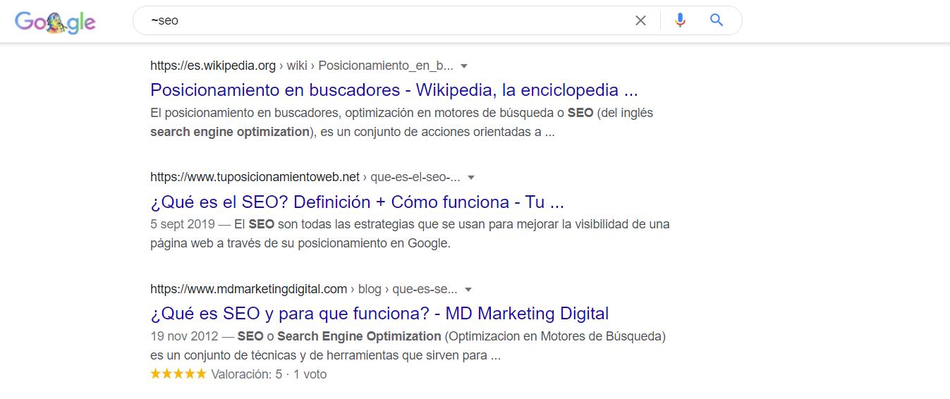 comando ~google