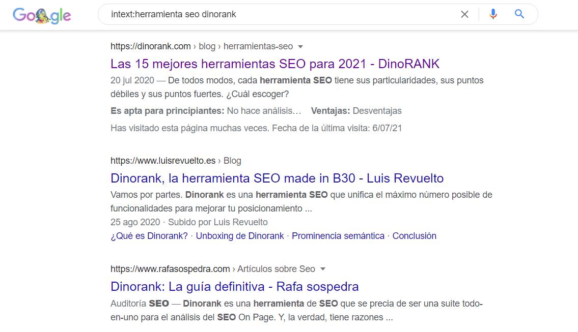comando intext google