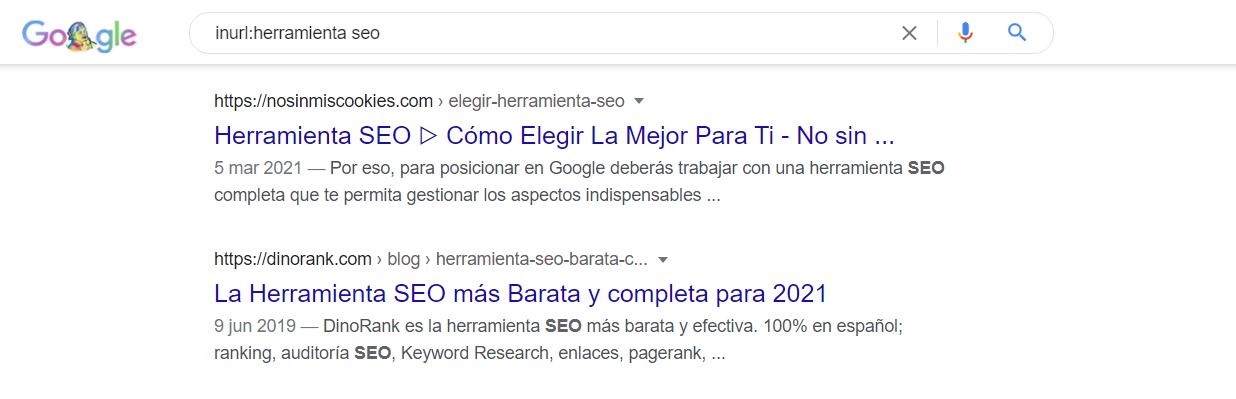 comando inurl google