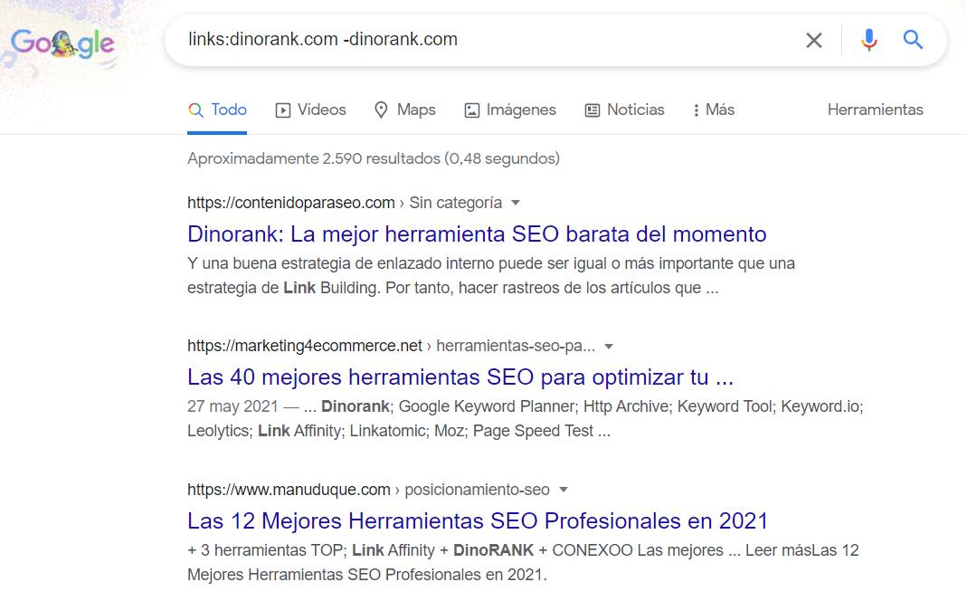 comando links google